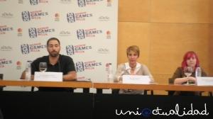 Juan Pablo Ordóñez, Mar Marcos y Patricia Rodríguez.  http://uniactualidad.com/2013/11/05/conferencia-mujeres-en-la-industria-del-videojuego-en-madrid-games-week/